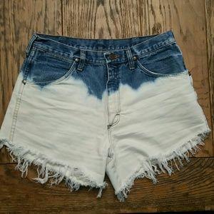 Wrangler Two Tone High Waisted Shorts